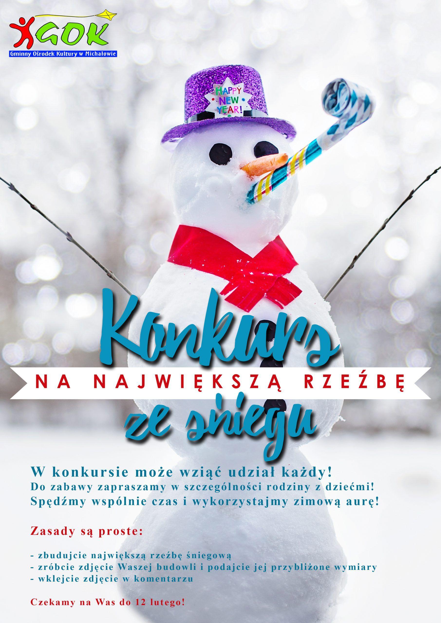 plakat konkursowy rzeźba ze śniegu