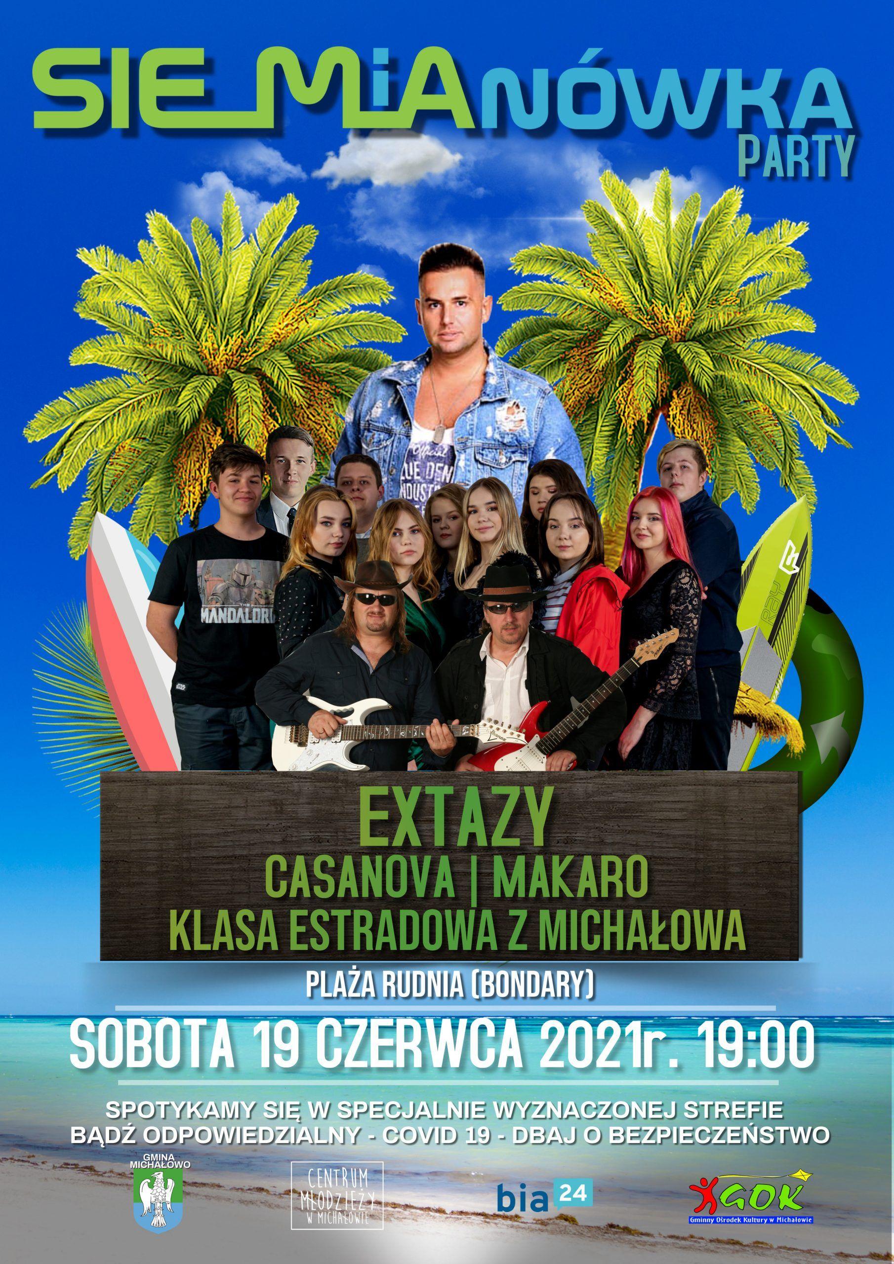 19.06.2021 siemianowka party extazy plakat final