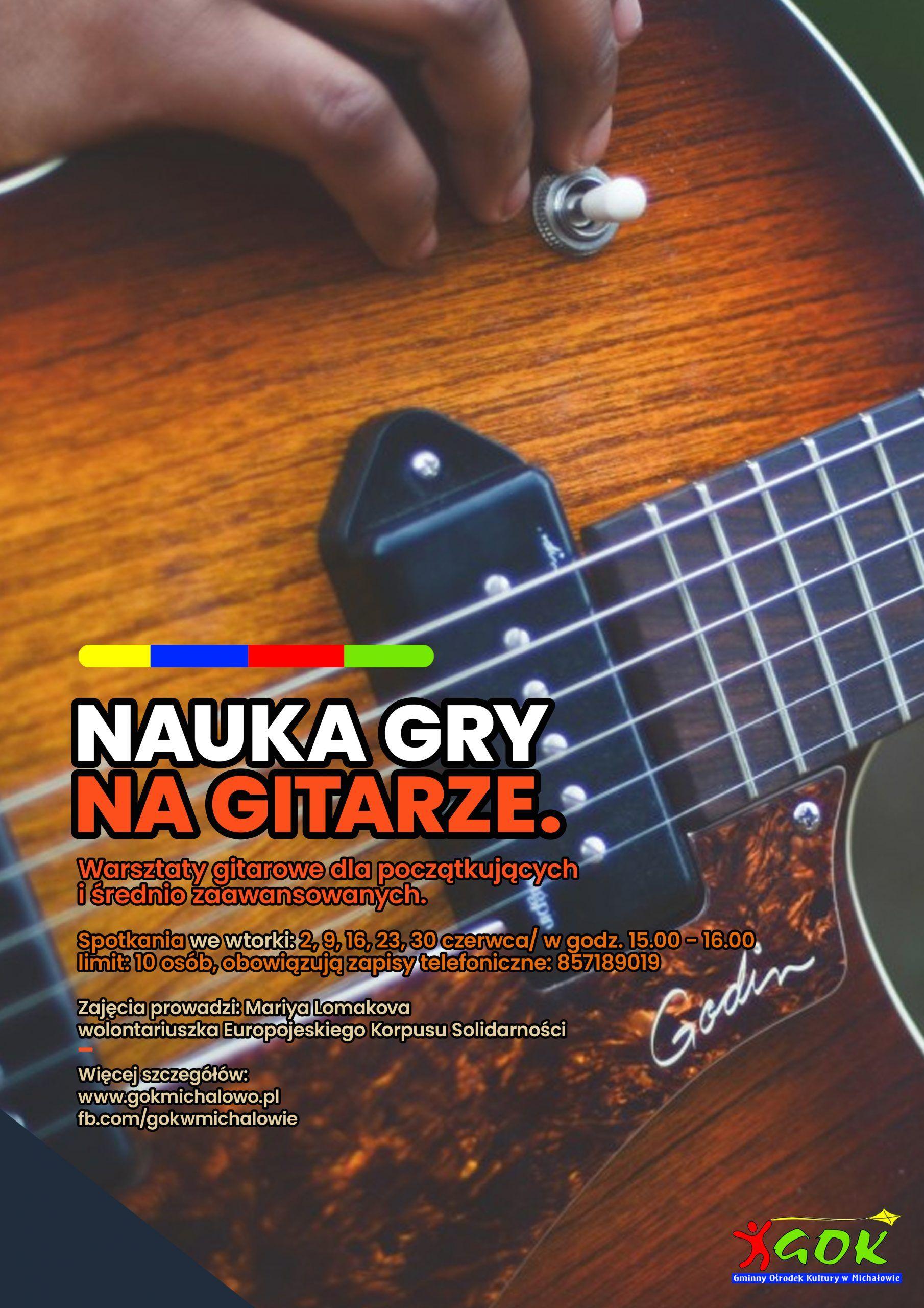 nauka gry na gitarze plakat
