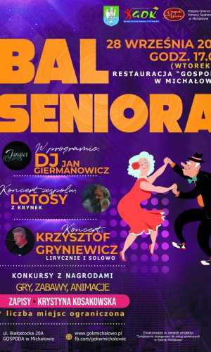 Plakat informacyjny Bal Seniora 2021